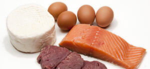 Some exemples of animal protein eggs cheese fish and meat